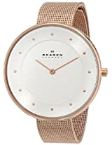 Skagen Analog White Dial Unisex Watch -  SKW2142