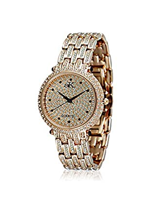 Adee Kaye Women's 9-67LRG Rose/Crystal Brass Watch
