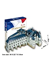 Chateau de Chenonceau with Book 116 Piece 3D Jigsaw Puzzle Made by 3D-Puzzle