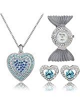 Crunchy Fashion Aqua heart Sassy Love Gift Set for women