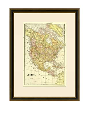 Antique Lithographic Map of North America, 1883-1903