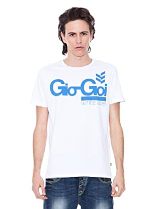 Gio Goi Camiseta Twistlab (blanco / azul)