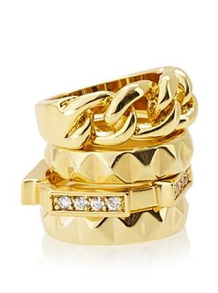 Beyond Rings Venetian Set of 4 Stack Ring Set