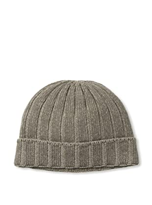 Sofia Cashmere Men's Cuffed Up Rib Hat (Brown)