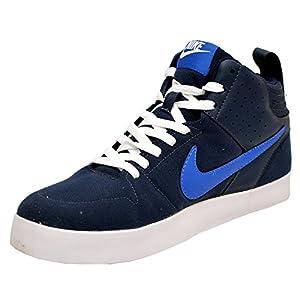 Nike Men's Light Force III Dark Blue Canvas Sneakers - UK 7