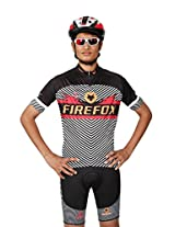 Cycling Jersey for Men Black Firefox Thunder (XXL)