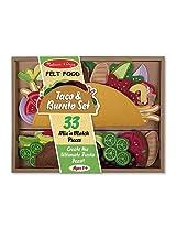 Game/Play Melissa & Doug Felt Food - Taco And Burrito Set Kid/Child