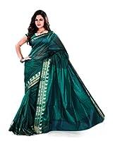 Asavari Net Saree With Blouse Piece (A14Afq6Alf-Sfr -Jade Green)