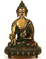 The Medicine Buddha - Brass Statue