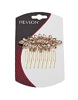 Revlon Antique Comb for Hair, Gold Amber, Rv3037