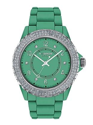 K&BROS 9558-6 / Reloj de Señora  con correa de plástico verde
