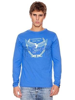Rexton Camiseta Print Marca (Azul)