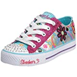 Skechers Girl's Shuffles Clitter Fashion Sneaker