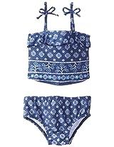 Osh Kosh Baby Girls' Bandana Print Tankini, Navy, 12 Months