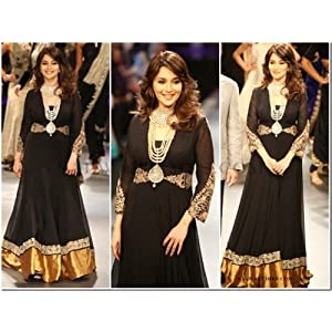 Madhuri Dixit Bollywood Replica Anarkali Suit
