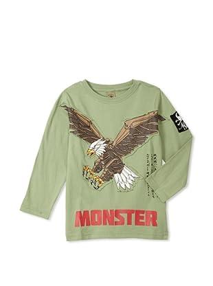 Monster Republic Boy's Eagle Wilderness Tee (Green)