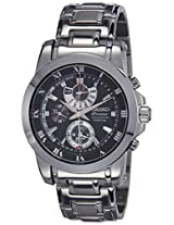 Seiko Premier Chronograph Black Dial Men's Watch - SPC161P1