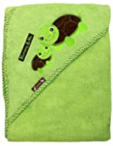 "Extra Large 40""x30"" Hooded Towel, Mommy & Me Turtles, Frenchie Mini Couture"