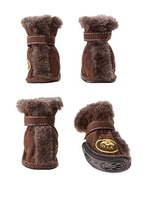 Pet Life Ultra-Fur Comfort Boots (Brown)