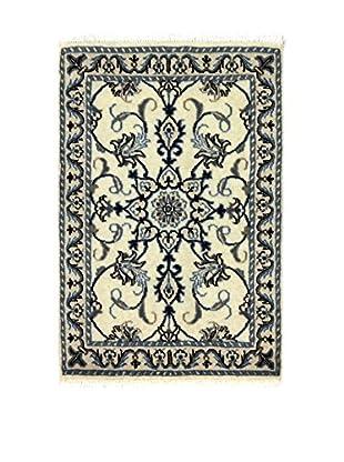 Eden Teppich Nain K beige/blau 58 x 88 cm