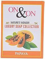 ON & ON Nature's Wonder Luxury Soap Collection Papaya - 75 Grams