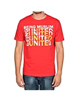 Being Muslim Red Cotton T-shirt for Men