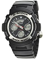 Casio G-Shock Analog-Digital Black Dial Men's Watch - AW-590-1ADR (G219)