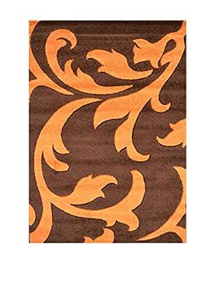 Chic Orange Teppich Havanna braun/orange 120x170 cm