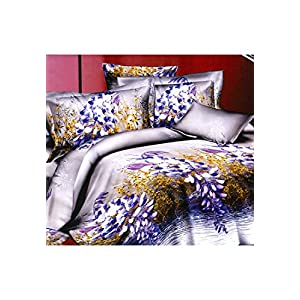 La Dazzle Double Bedsheet With 2 Pillow Covers