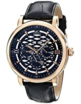Adee Kaye Men's AK2242-MRG/BK Successo Analog Display Automatic Self Wind Black Watch