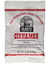 Claeys Old Fashioned Hard Candies 2.25 lb (Six, 6-oz bags) (Cinnamon)