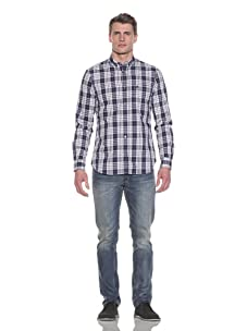 French Connection Men's Aquarius Check Shirt (Ink)