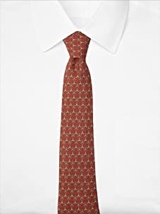 Hermès Men's Snowflakes Tie, Burgundy, One Size