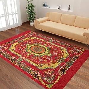 Handloomdaddy Maharaja Style Quilted Carpet