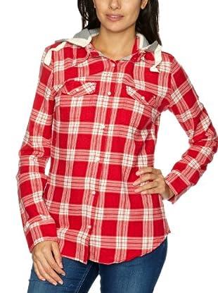Roxy Camiseta WPWSH143 (Rojo / Blanco)