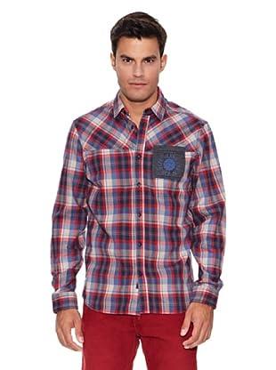 Pepe Jeans London Camisa Steve (Azul / Rojo)