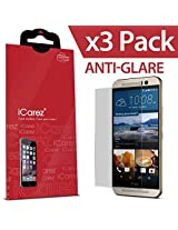 iCarez For HTC One M9 [ HD Anti Glare ] [ Unique Hinge Install Method With Kits ] Highest Quality Premium Reduce Anti-fingerprint Anti-Scratch Bubble-free Screen Protector **PET Film Made in Japan** Easy Install With Lifeti