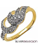 Silver Selection American Diamond Brass Ring
