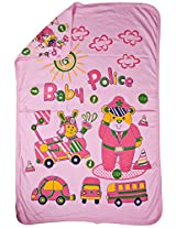 LOVE BABY REGULAR PRINTED TOWEL WITHOUT HOOD 1907 REGULAR TOWEL PINK