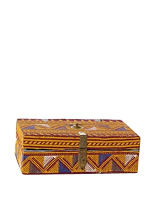 Rectangle Fabric & Bead Covered Box, Multi