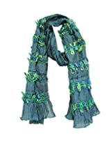 Anekaant Solid Polyester Women's Scarf (Blue)