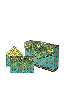 Punch Studio Set of 3 Flip Top Box Notes (Turquoise Paisley)