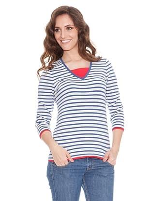 Tulchan Camiseta Orla Stripe (plateado / tinta)
