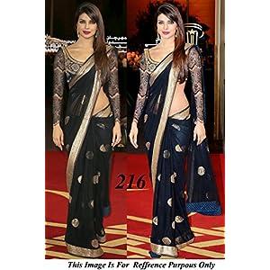 bollywood saree priyanka chopra in black saree at awards