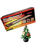 Suffleboard 3 In 1 Game & Bowling Ornament Set Of 2 Gift Bundle Ages 5+ [2 Piece]