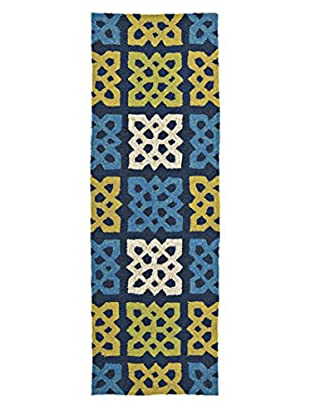 Kaleen Home & Porch Indoor/Outdoor Rug, Blue, 2' x 6' Runner