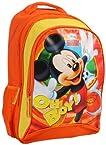 Mickey - Orange & Yellow School Bag 18 Inches