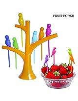 Birdie Fruit Fork, Fruit Picker, Dining Table-top Decor-White