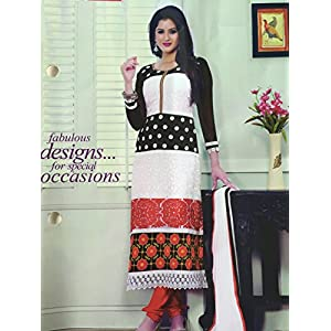 Fashioniista Floral Fiesta - Dress Material