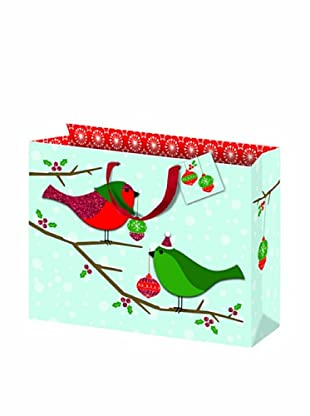 Punch Studio Set of 5 Molly & Rex Gift Bags (Birds)